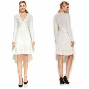 Calvin Klein Ribbed Long Sleeve Sweater Dress